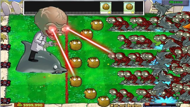 Plants Hack Popcap100%  Wall-nut Bowling vs Dolphin Rider Zombie