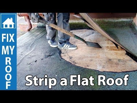Strip a Flat Felt Roof – Replace a flat roof