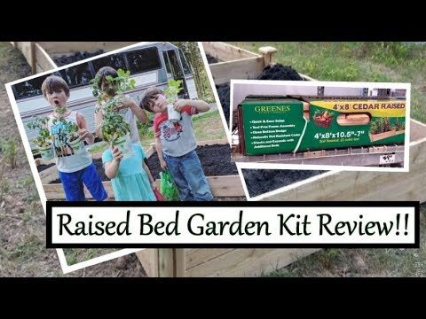 Gardening with kids!! Installing our Greenes Fence Company 4′ x 8′ Cedar Raised Garden Kits!!