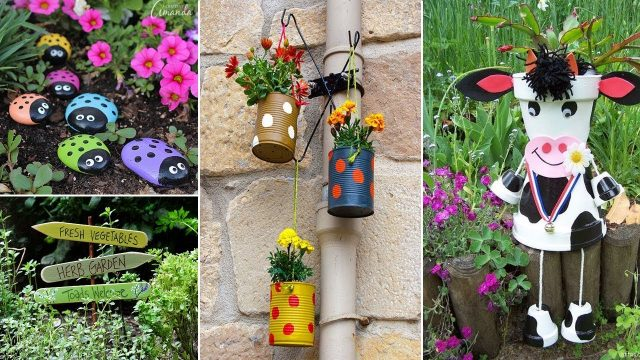 120 Cute And Easy DIY Garden Crafts ideas | DIY Garden