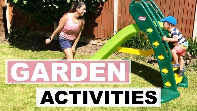 OUR GARDEN ACTIVITIES FOR KIDS | TODDLER SUMMER ESSENTIALS & GARDEN GAMES | Ysis Lorenna