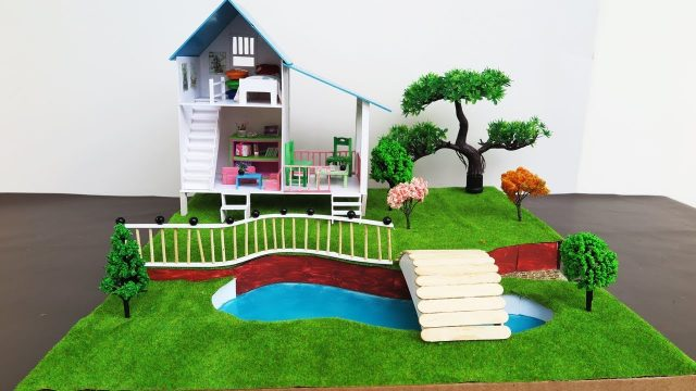 DIY Miniature Doll House With Beautiful Fairy Garden  –  Crafts For Kids