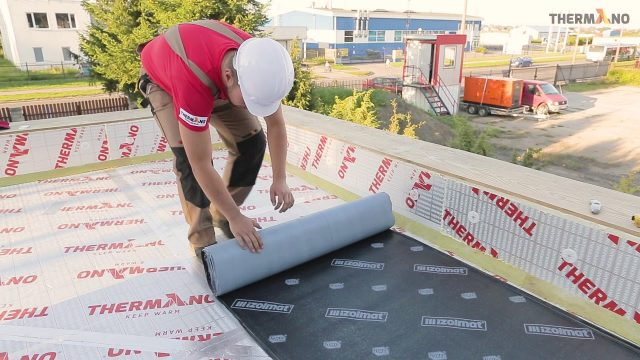 Two layers of Thermno PIR boards on an extensive green roof – Installation instructions