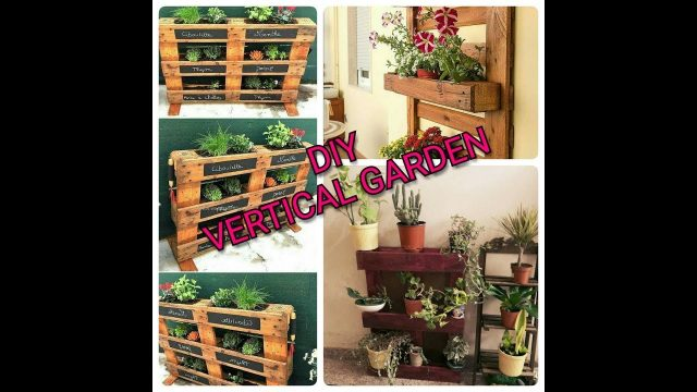 DIY VERTICAL GARDEN SETTING BY RECYCLING PALLETS!!