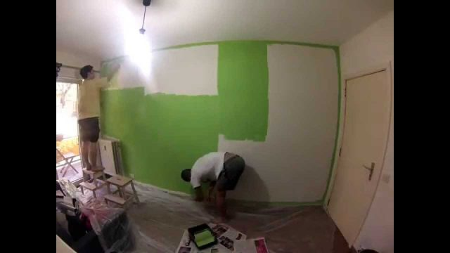 2013 0428 Painting green wall timelapse
