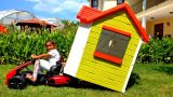Esma play with playhouse garden toy car for kids video