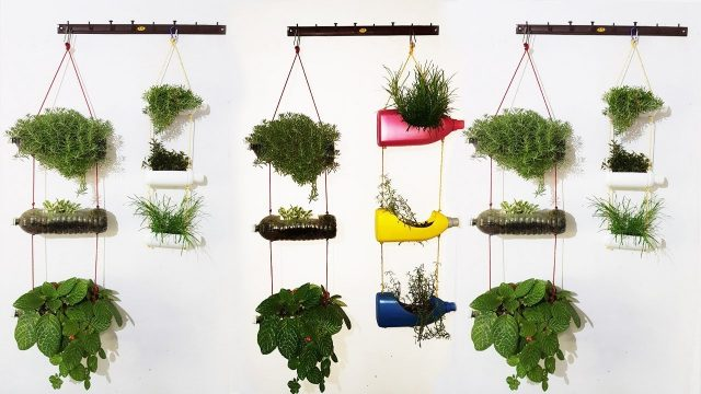 Vertical hanging garden with plastic bottles |DIY|
