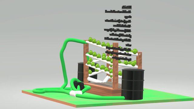 Hydroponic Vertical Garden Concept