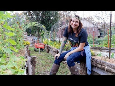 FULL Fall Garden Tour | Raised Bed Vertical Vegetable Garden | Roots and Refuge Farm