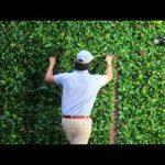 Artificial leaf panels. Installation. GreenSmart Decor.