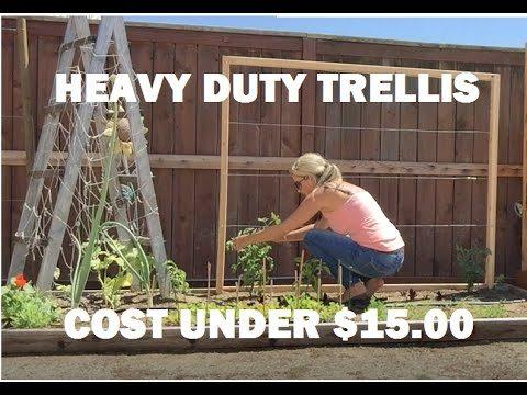 easy do it yourself – DIY – vegetable trellis, under $15.00
