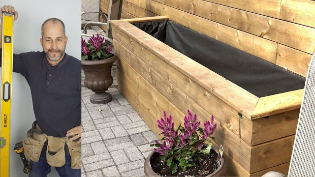 DIY Building and Installing Deck  Railings and Planters