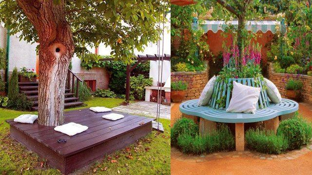 Creative Garden Bench Decorating ideas | Outdoor Garden Furniture designs