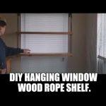 DIY Hanging Window Wood Rope Shelf Plants Garden Seedlings Succulents Germinating Seed Grow Sun.