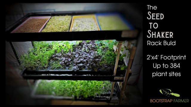 How to build an Indoor Growing Hydroponic Rack for Microgreens and Culinary Herbs
