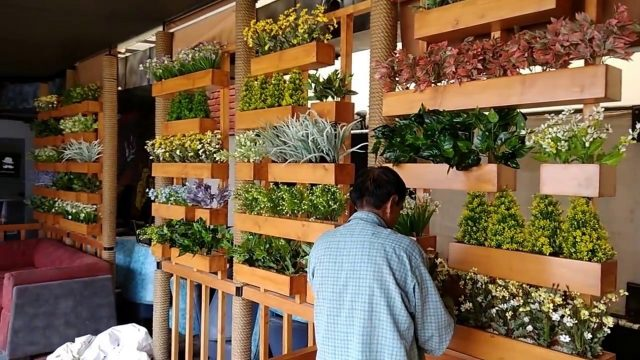 FancyMart Artificial Flowers and plants wall
