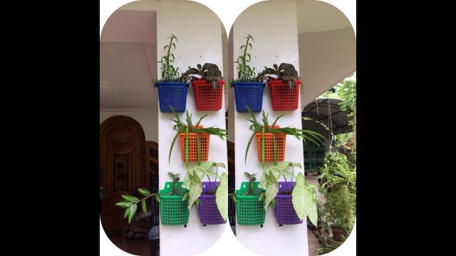 how to make wall mount planters/ hanging wall planter/ planter ideas