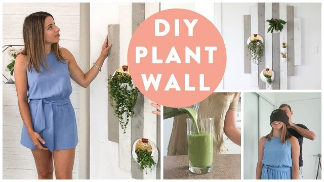 DIY Home Decor Plant Wall | Behind the Scenes Apartment Tour