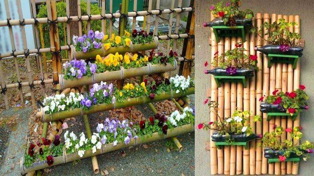Amazing Bamboo Gardens Design Ideas | Bamboo ideas for Wall decorating | Bamboo Planter Ideas