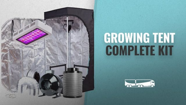 Growing Tent Complete Kit For Indoor Gardening & Hydroponics: TopoGrow LED Grow Tent Complete Kit