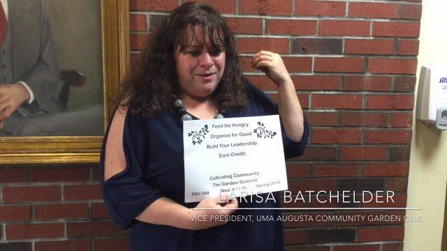 Larisa Batchelder on SSC 334, the UMA Community Gardening Course