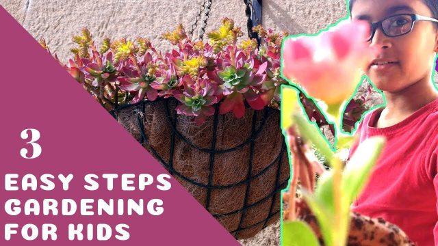 GARDENING FOR KIDS – 3 EASY STEPS