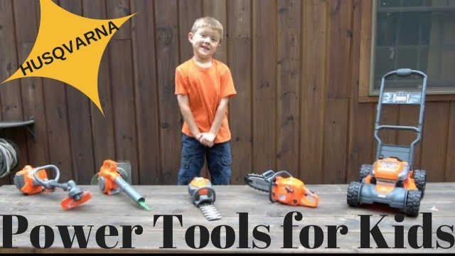THE LITTLE GARDENER – Husqvarna  Kids Power Tools Lawn Equipment Playset