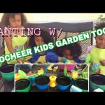 PLANTING WILD FLOWER SEEDS WITH OUR INNOCHEER KIDS GARDEN TOOLS KIT! COME AND LEARN!