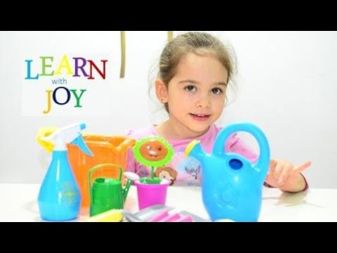 Kids learn planting flower with Kinetic Sand – Play gardening education teaching methods activities
