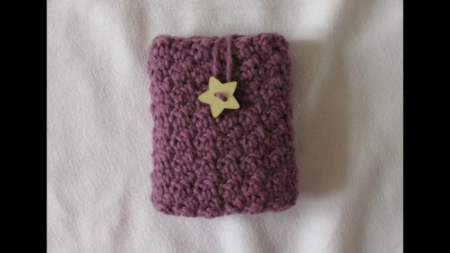 VERY EASY crochet phone case tutorial – textured cell phone pouch / cover / cozy