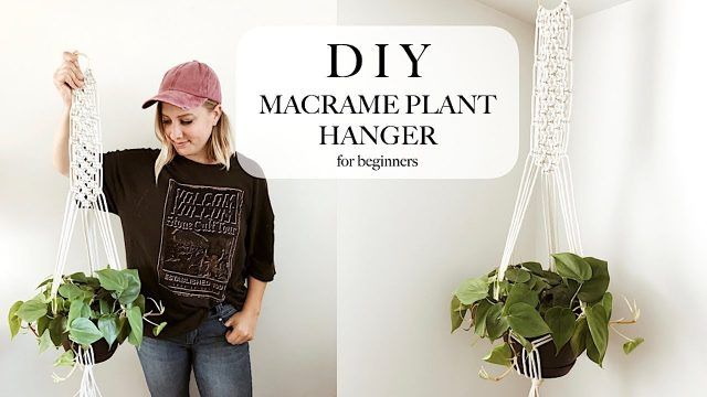 DIY Macrame Hanging Planter Tutorial (for beginners)