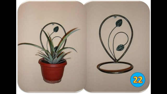 Making a wall mounted plant holder