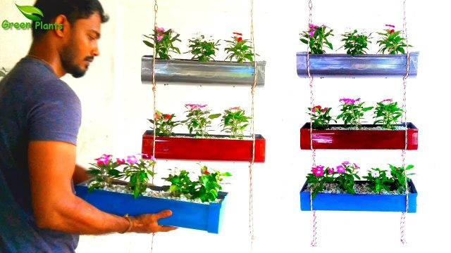 How to Make Vertical Garden | Indoor and Outdoor String Vertical Garden Planter//GREEN PLANTS