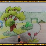 How to Draw a Beautiful Garden for Kids Easy Step by Step