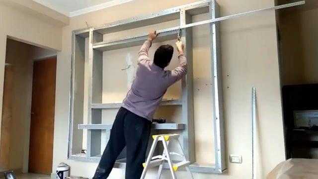 TV Wand selber bauen für Heimkino | Fernsehwand selber bauen