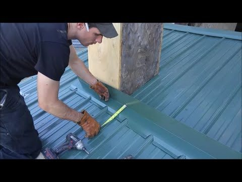 Metal Roofing Chimney Flashing Kit DIY Video – Mid Maine Metal