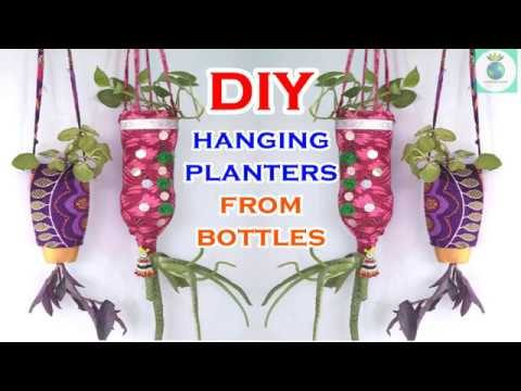 DIY Hanging Planter From  Waste Plastic Bottles / Best out of weste by Garden Globe