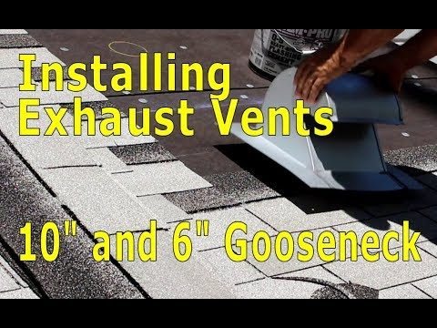 Roofing – How To Install 10 inch Exhaust Vent Asphalt Shingles