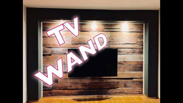 Wohnwand – TV Wand selber gebaut