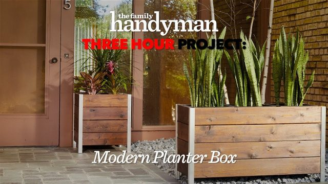 Three Hour Project: Stylish Modern Planter Box