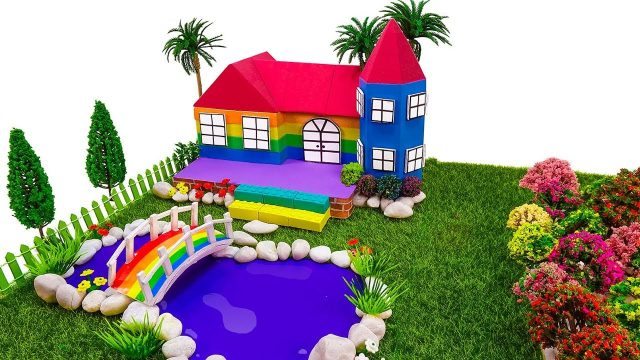 Learn Colors Shape It Sand Castle w Garden With Nursery Rhymes Songs – How To Make For Kids