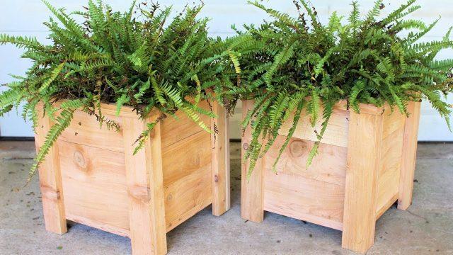 Cedar Garden Planter Box : Modern DIY