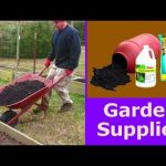 GARDEN SUPPLIES and Container Cleanup PREP ready to plant vegetable gardening compost