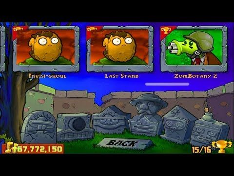 Plants vs Zombies | Minigames Zombotany 2 vs Cattail vs Wall Nut