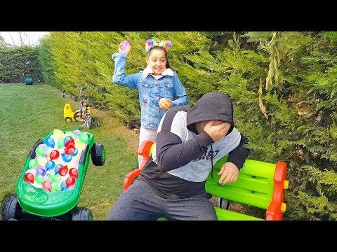 Melo and Dad Play The Garden, Kids Family fun – Happy Family