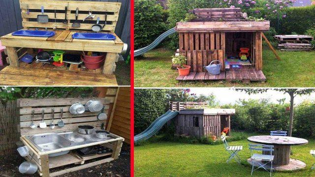 21 No Money Backyard Pallet DIYs for Kids Summer Fun Ideas