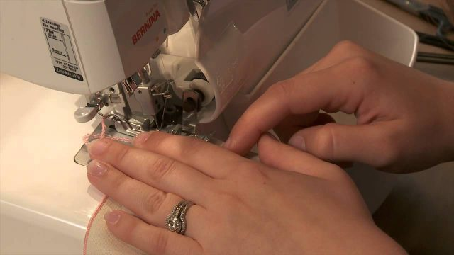 Serger Sewing Techniques: How To Make A Rolled Hem Napkin