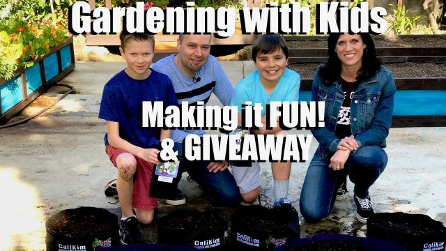 Gardening with Kids – 4 Ways to Make it Fun & GIVEAWAY // Kid's Garden Series #1