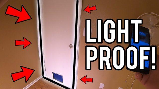 HOW TO LIGHTPROOF GROW ROOM DOOR! – INDOOR GARDENING