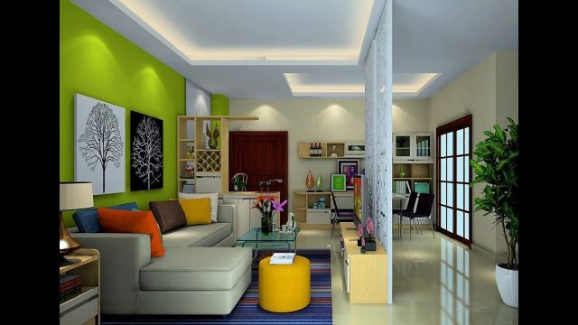 Light Green Wall for Living Room ! Interior wall decoration ideas